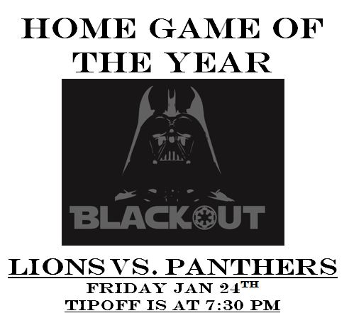 LTHS Blackout Basketball Game