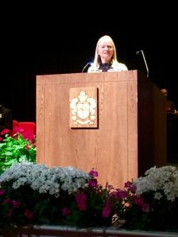 Kelli Joy O'Laughlin Memorial Scholarship recipients from Hinsdale Central presentation.
